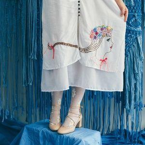 Virgo Astrology Midsommar Magic Flower White Dress